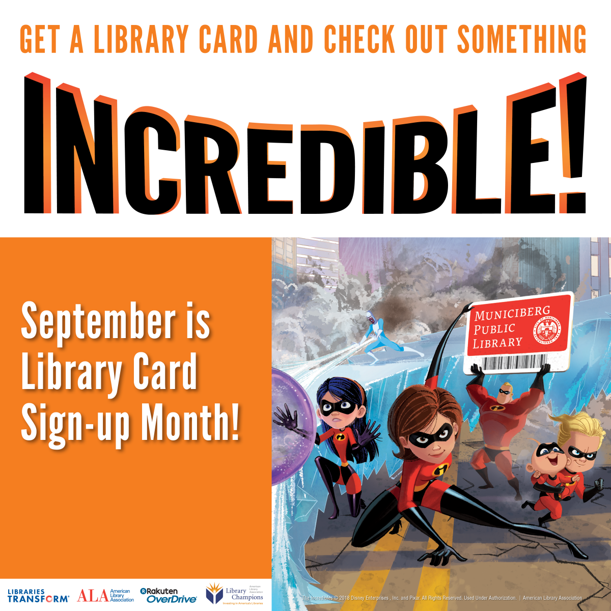 September is Library Card Signup Month